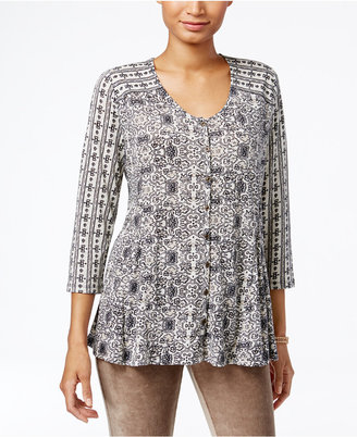 Style & Co. Printed Swing Blouse, Only at Macy's $49.50 thestylecure.com