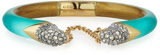 Alexis Bittar Mirrored Crystal Break-Hinge Bracelet, Mint Green $215 thestylecure.com