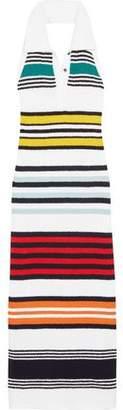Rosie Assoulin Striped Cotton Halterneck Maxi Dress