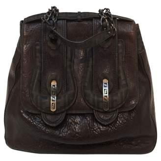 Fendi B Bag Brown Leather Handbag