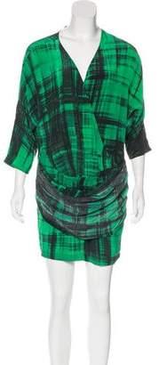 Thakoon Long Sleeve Silk Dress