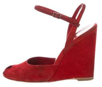 Balenciaga Peep-Toe Wedge Pumps