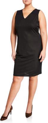 Rachel Roy Callie Dot Print V-Neck Sheath Dress, Plus Size