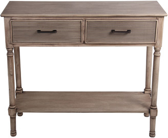 Privilege 2-Drawer Sahara Morning Accent Console Table