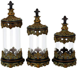 Uma Enterprises Set Of Three Glass Canisters