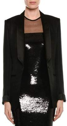Tom Ford Shawl-Collar One-Button Crepe Blazer