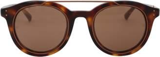 Linda Farrow Oval Browbar Sunglasses