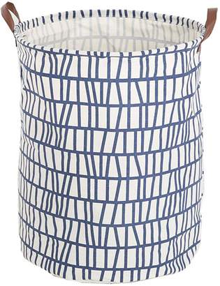Laundry by Shelli Segal FUNNYGO Large Storage Bin ,Ramie Cotton/ Canvas Fabric Folding Storage Basket With Handles- Toy Box/ Toy Storage/ Toy Organizer for Boys and Girls Basket/ Nursery Hamper