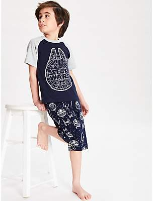Star Wars Boys' Glow In The Dark Short Pyjamas, Navy