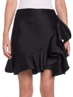Stella McCartney Satin Ruffle Mini Skirt