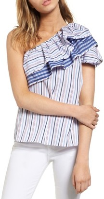 Women's Parker Mary One-Shoulder Top $188 thestylecure.com