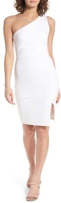 Women's Soprano One-Shoulder Body-Con Minidress $49 thestylecure.com
