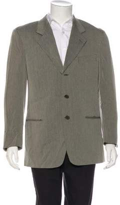 Giorgio Armani Striped Three-Button Blazer