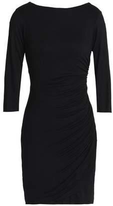 Bailey 44 Twist-Back Ruched Stretch-Jersey Mini Dress