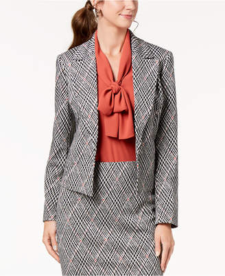 Nine West Printed Kiss-Front Jacket