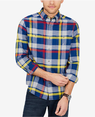 Nautica Men's Classic Fit Plaid Flannel Shirt