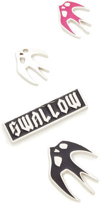 McQ - Alexander McQueen Enamel Swallow Pins $65 thestylecure.com