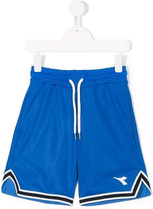 Diadora Junior logo sports shorts