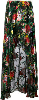 Alice + Olivia Alice+Olivia floral print high low skirt