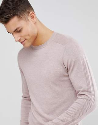 Selected Knitted Sweater With Raglan Sleeve