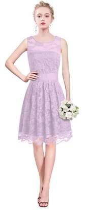 VaniaDress Women A Line Short Lace Bridesmaid Dress Evening Gowns V240LF US