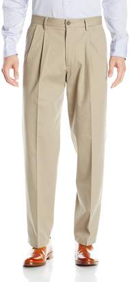 Dockers Relaxed Fit Stretch Signature Khaki Pants - Pleated D4, Navy (Stretch)