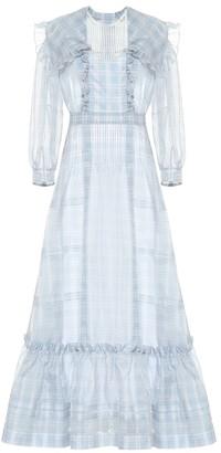 Calvin Klein Checked silk dress