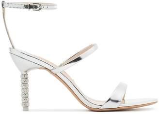 Sophia Webster silver metallic rosalind 85 leather sandals