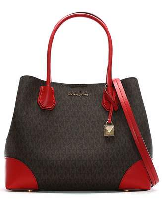 Michael Kors Coated Canvas Logo Tote Bag