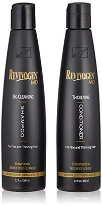 Revivogen MD Bio Cleansing Shampoo & Thickening Conditioner Duo Set for fine