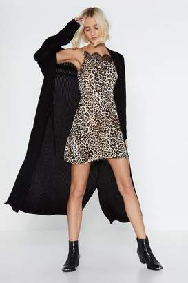 Nasty Gal Go Leopard or Go Home Lace Dress