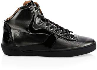 Bally Eroy High Top Metallic Sneakers