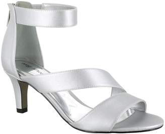 d4c47397453 Easy Street Shoes Silver Heeled Women s Sandals - ShopStyle