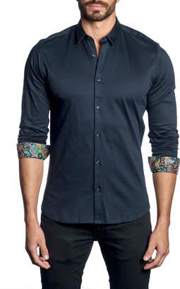 Jared Lang Men's Long-Sleeve Button-Down Shirt w/ Paisley Facing