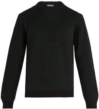 Lanvin Ribbed-knit crew-neck sweater