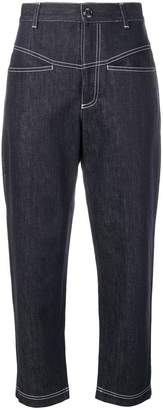 Fendi cropped tapered jeans