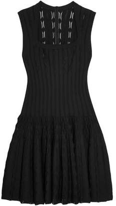 Alaia Laser-cut Knitted Dress
