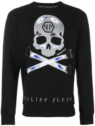 Philipp Plein Tattoo skull jumper