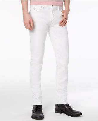 GUESS Men Slim-Tapered Fit Stretch White Jeans