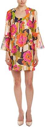 Trina Turk Women's Bonita La Paz Flores Silk Georgette Dress $89.99 thestylecure.com