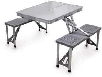 Fold-Up Aluminum Picnic Table