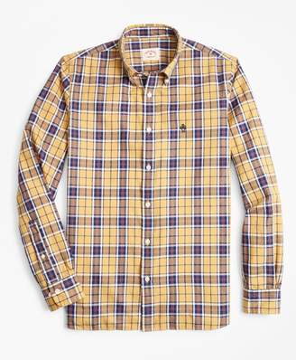 Brooks Brothers Plaid Basketweave Oxford Sport Shirt