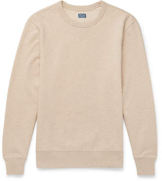 J.Crew Loopback Mélange Cotton-Jersey Sweatshirt