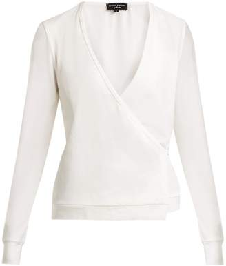 PEPPER & MAYNE V-neck cotton-blend wrap top
