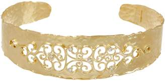 ADI Paz Diamond Accent Filigree Cuff 14K Gold 9.7g