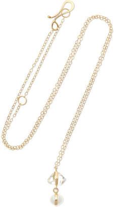 Melissa Joy Manning 14-karat Gold, Herkimer Diamond And Pearl Necklace