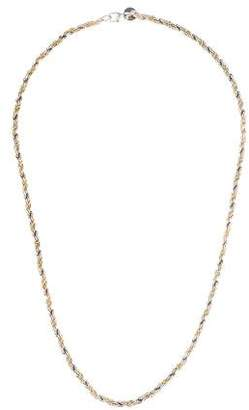 Tiffany & Co. Two-Tone Twisted Rope Chain Necklace