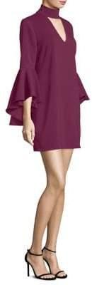 Milly Italian Cady Andrea Bell-Sleeve Dress