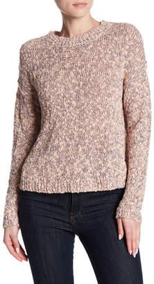 Susina Slub Marl Knit Crew Neck Pullover Sweater (Regular & Petite)