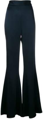 Peter Pilotto satin wide leg trousers